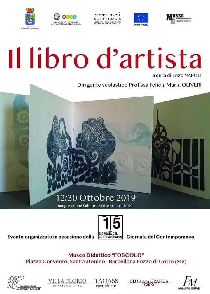 """Barcellona PG. """"Il libro d'artista"""" e """"I segni raccontano"""" al Museo Didattico """"Foscolo"""" nella Giornata del Contemporaneo"""