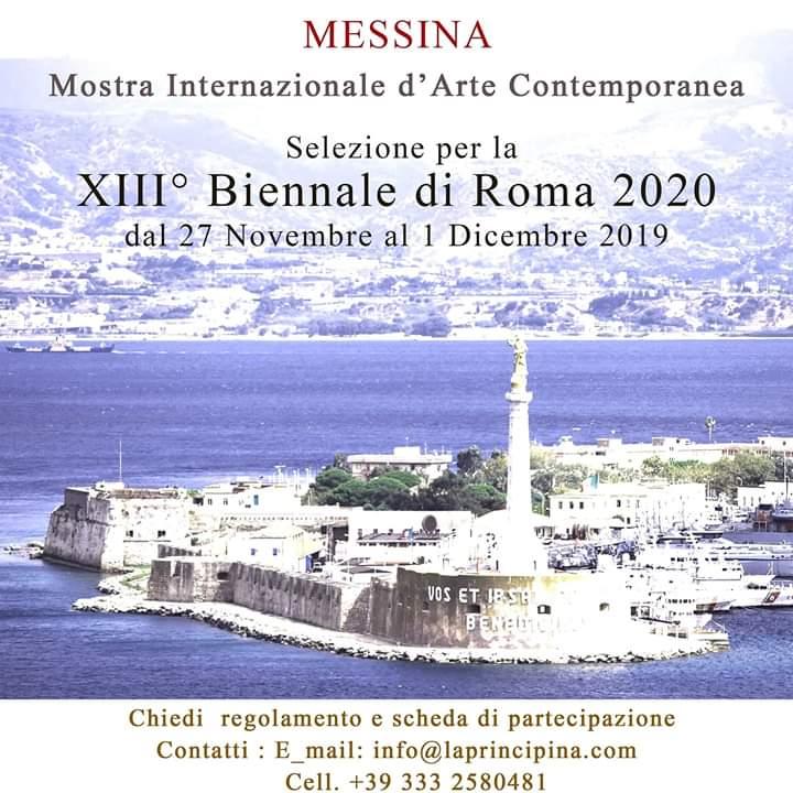 Messina. La Mostra Internazionale d'Arte Contemporanea. Selezione per la XIII Biennale di Roma 2020