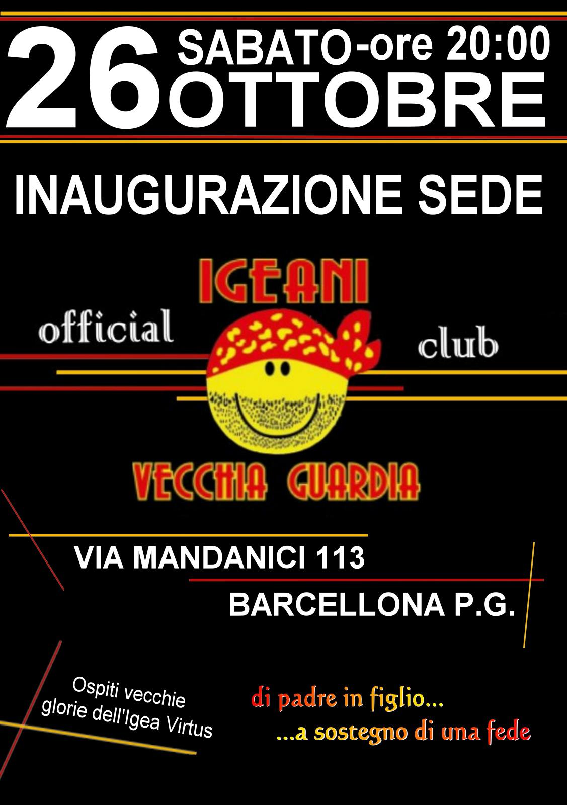 """Barcellona PG. Club Igeani Vecchia Guardia, inaugurano la propria 'casa giallorossa': """"Via ad avventura di sport e sociale"""""""