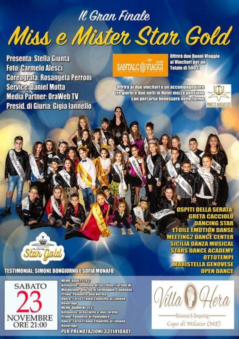 #ConcorsoBambini. Gran finale 'Star Gold 2019' a Villa Hera: 40 'Stelline' in sfida con diversi ospiti in una location gremita