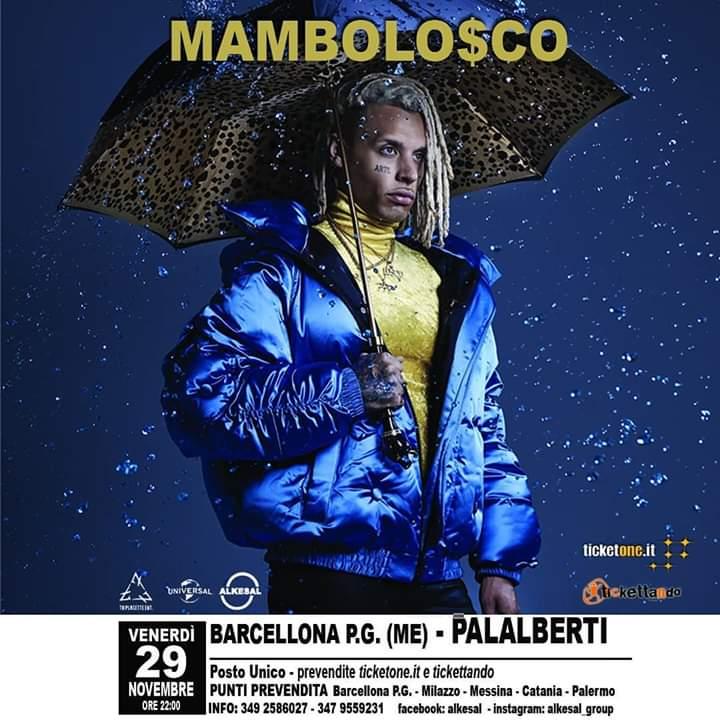 Barcellona PG. Il noto rapper Mambolosco in concerto al PalAlberti