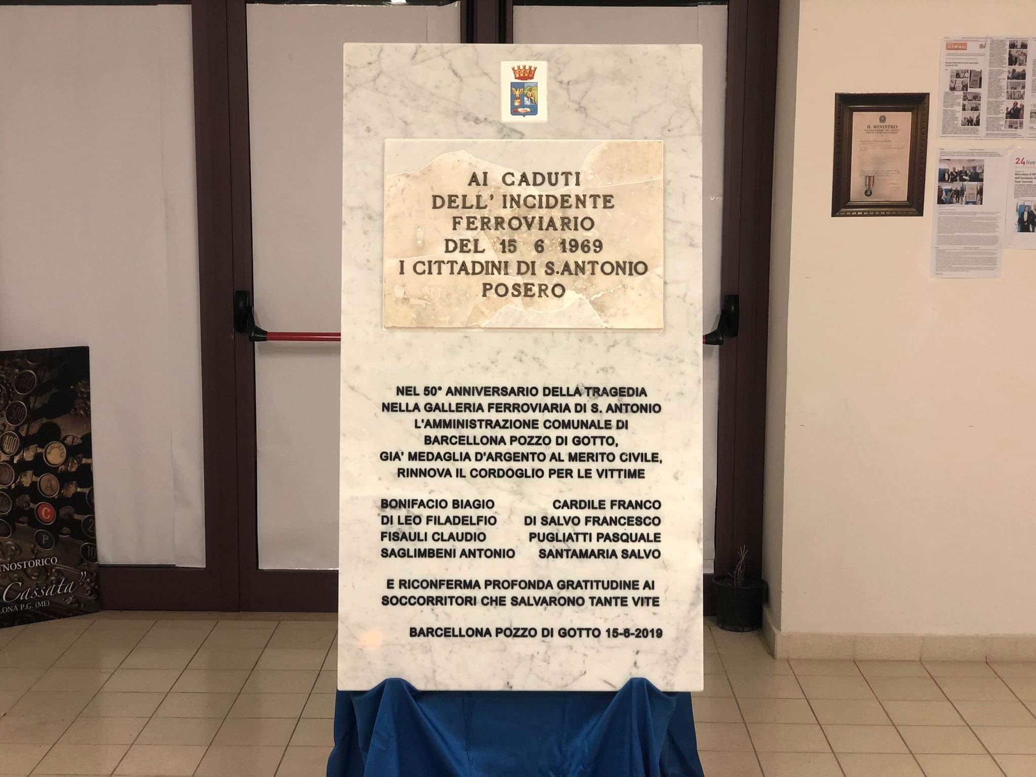 Barcellona PG. Chiusa con successo la Mostra commemorativa sul 50° anniversario dell'incidente ferroviario del 15 giugno 1969