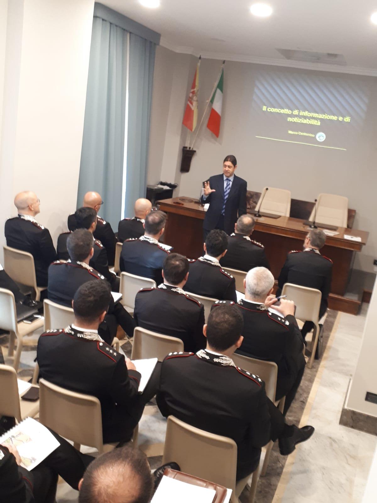 """Messina. Successo per il seminario sulla comunicazione alla caserma """"A. Bonsignore"""""""