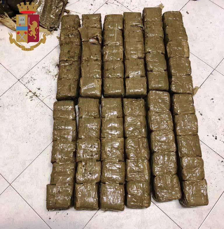Capo d'Orlando. Sequestrati 38 chili di hashish dalla Polizia di Stato