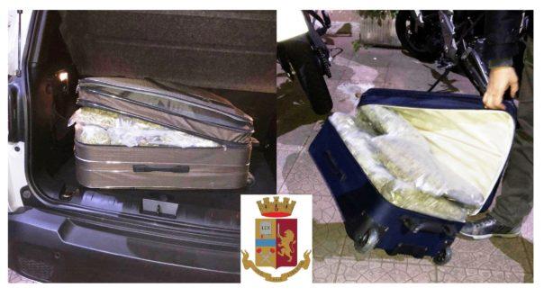 Messina. Trovati con 20 chili di marijuana nel trolley, arrestati due gelesi al porto