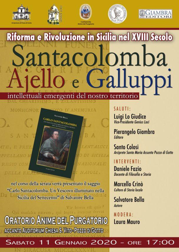 """Barcellona P. G. Incontro-dibattito su Santacolomba, Ajello e Galluppi: """"Intellettuali emergenti del territorio"""""""