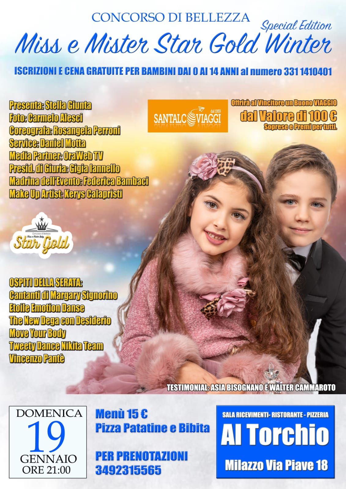 #ConcorsoBambini 'Special Edition Winter' Miss e Mister Star Gold 2020
