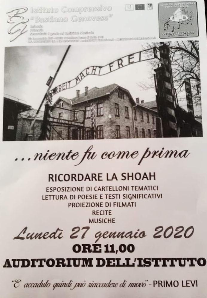 """Barcellona PG. L'evento """"Ricordare la Shoah"""" all'Istituto Comprensivo """"Bastiano Genovese"""""""