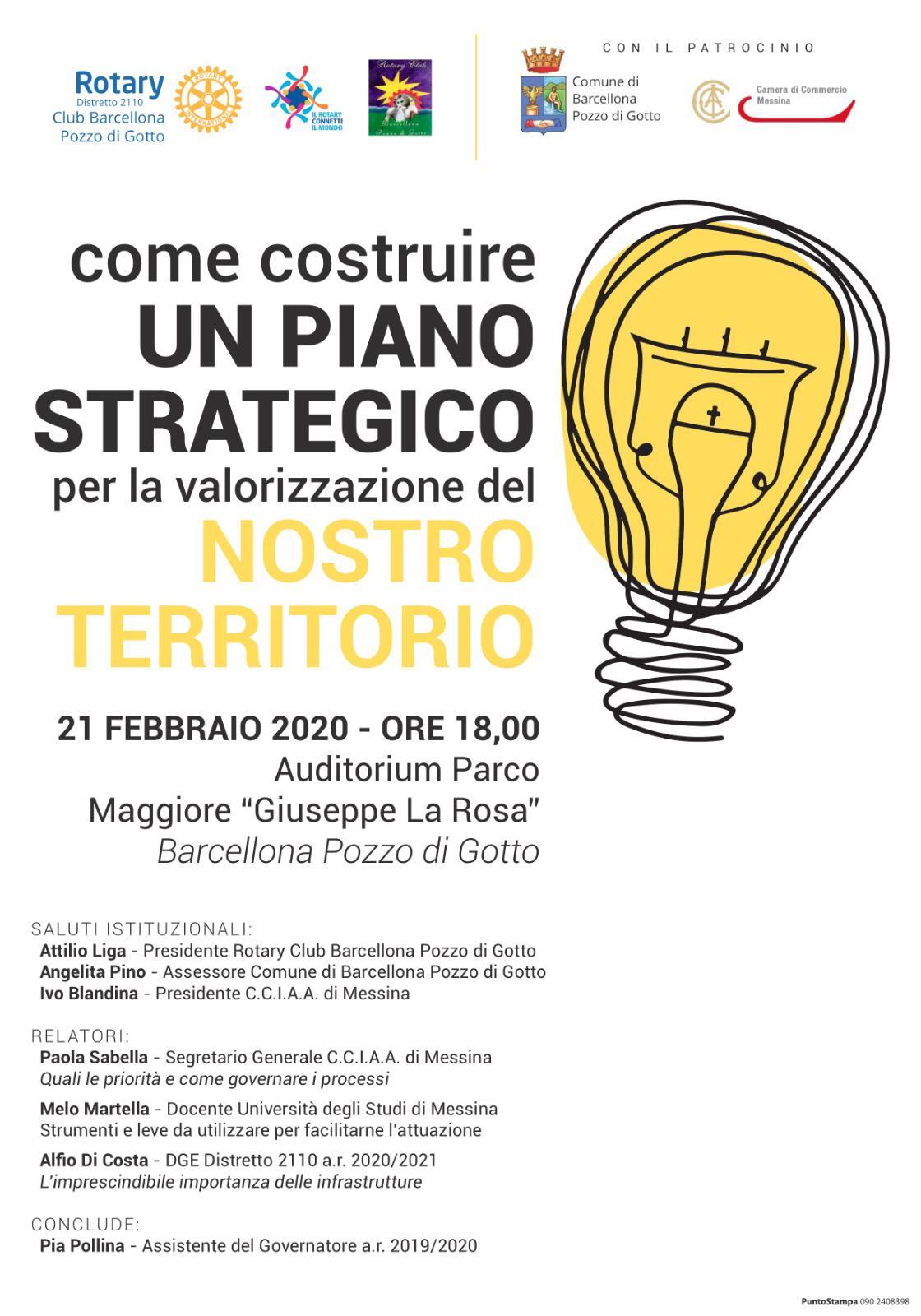 """Barcellona PG. Convegno Rotary Club all'Auditorium del Parco """"Maggiore La Rosa"""""""