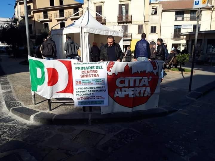 """Barcellona PG  """"Primarie"""" del Centrosinistra, si confrontano Bongiovanni, Mamì e Pino. Buona l'affluenza"""