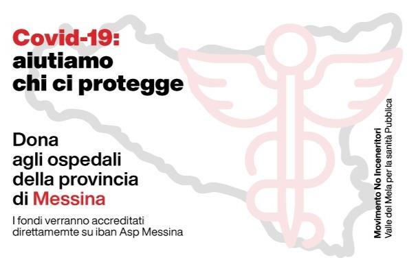 """Emergenza Covid-19. Movimento No Inceneritore lancia raccolta fondi per ASP Messina: """"Sosteniamo la sanità pubblica"""""""