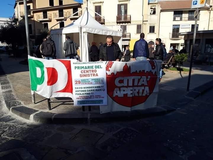 """Barcellona PG. """"Primarie Centrosinistra"""" 1657 votanti nella prima giornata, oggi si replica"""