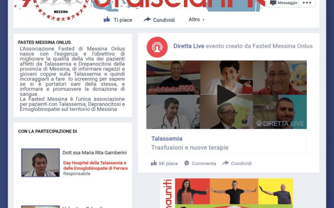 Fasted Messina Onlus,  stasera sulla pagina facebook nuova diretta con ospiti di rilievo