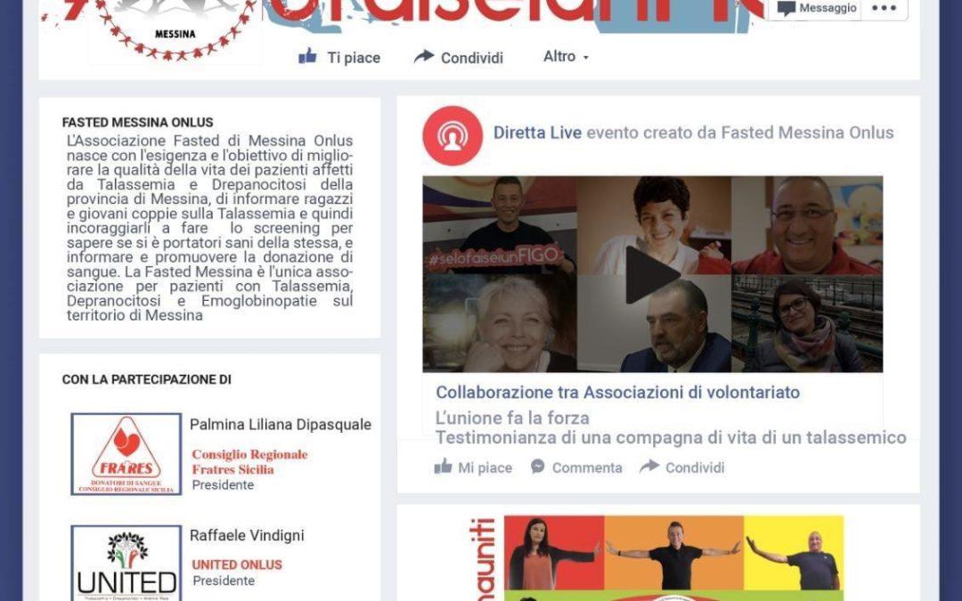 Messina. Fasted onlus, stasera nuova diretta su Facebook con ospiti di rilievo