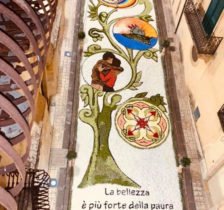 """L'Infiorata di Noto 2020. Dalla Sicilia un inno alla speranza con """"l'Albero della Vita"""""""