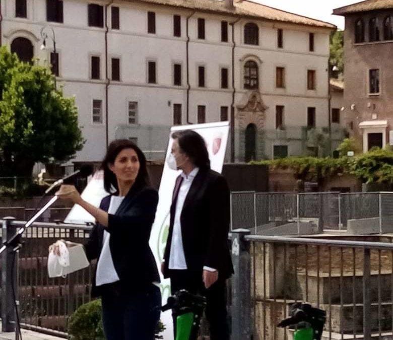 Roma. Presentato dal Sindaco Raggi il nuovo servizio di sharing by Lime