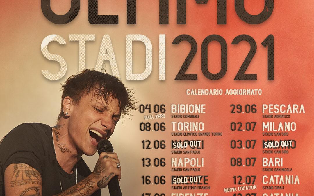 Concerti in Sicilia. Ultimo, riprogrammato a Catania: date diventano due