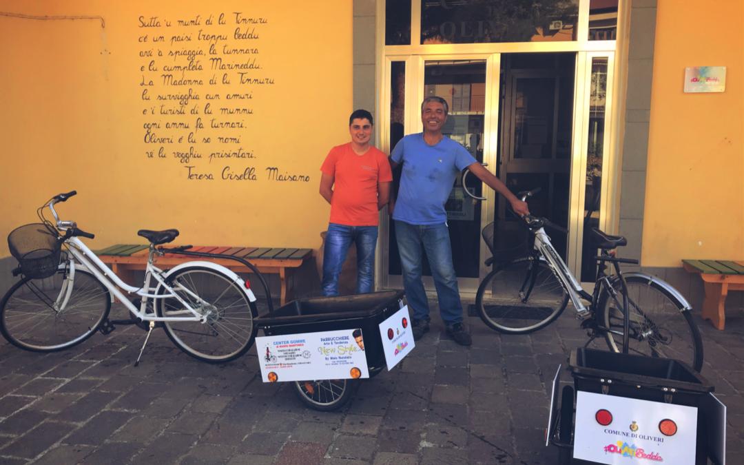 """Oliveri. Donate due bici """"raccogli rifiuti"""" da due commercianti. Comune: """"Oliveri sempre più 'Green'"""""""
