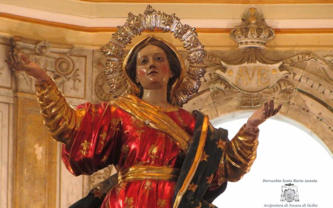 Novara di Sicilia. Oggi la Madonna Assunta 'o so Logu'
