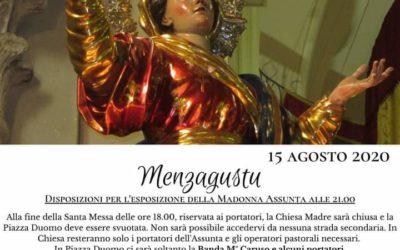 Novara di Sicilia onora la sua Assunta, dalle 21.00 la Madonna sulla porta del Duomo