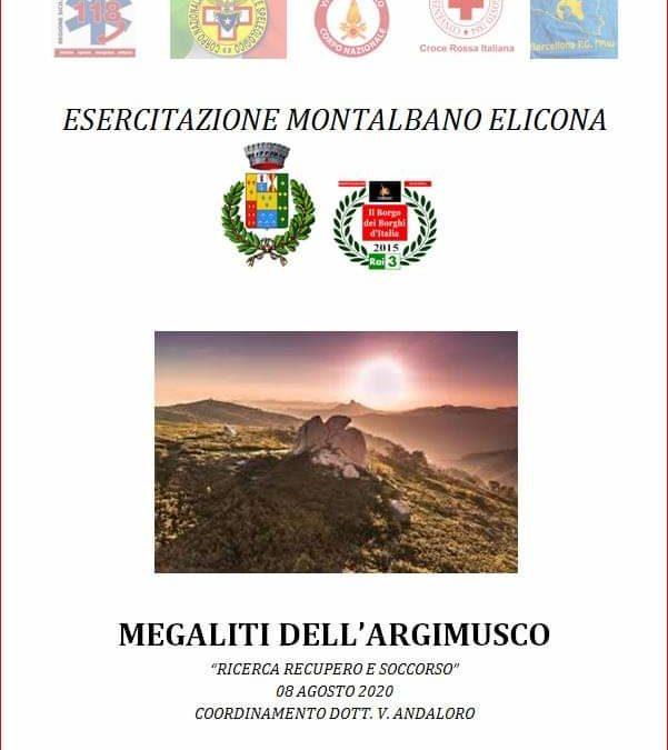 Montalbano Elicona. Esercitazione C.O. 118 nel parco dei Megaliti dell'Argimusco