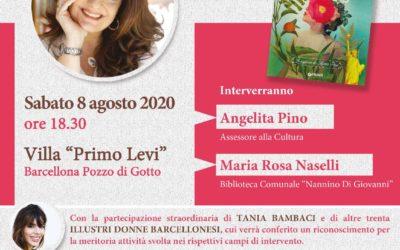 """Barcellona PG. Catena Fiorello alla Villa """"Primo Levi"""". Riconoscimento per 30 donne barcellonesi"""